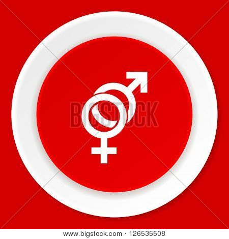 sex red flat design modern web icon
