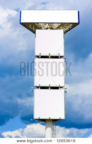 Giant 30 meter mast for Quadruple advertisement billboard -   -  of