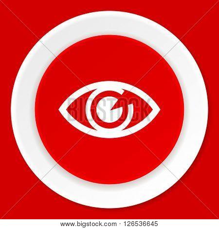 eye red flat design modern web icon