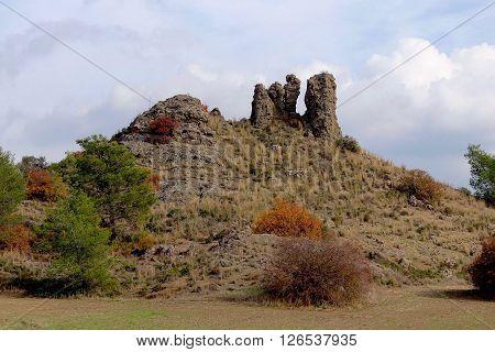 Pyrga, Cyprus, December 16, 2015: Strange rock formation in the region of Pyrga