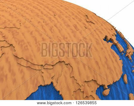 China On Wooden Earth