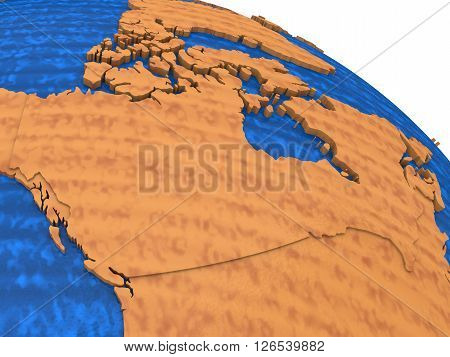 Canada On Wooden Earth