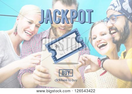 Jackpot Prize Value Winner Amount Hopeful Concept