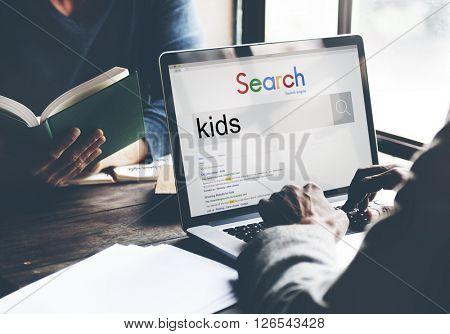 Businessmen Search SEO Connection Internet Website Concept