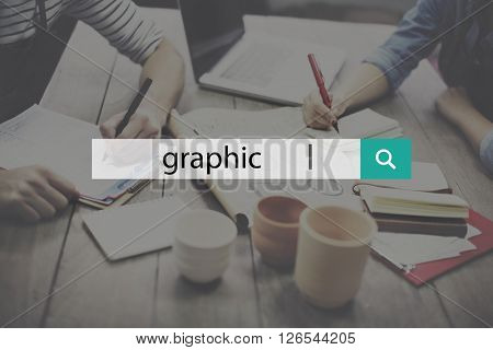 Graphic illustration Creative Visual Digital Art Concept