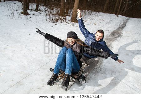 Young Couple Having Fun