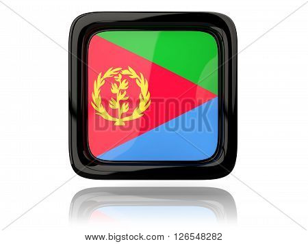 Square Icon With Flag Of Eritrea
