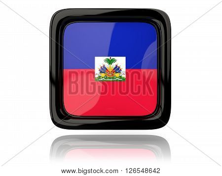 Square Icon With Flag Of Haiti