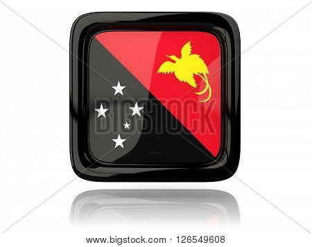 Square Icon With Flag Of Papua New Guinea