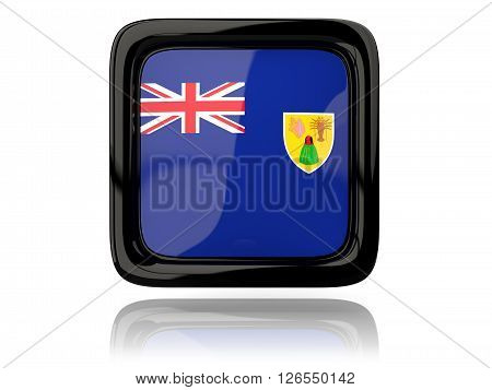 Square Icon With Flag Of Turks And Caicos Islands