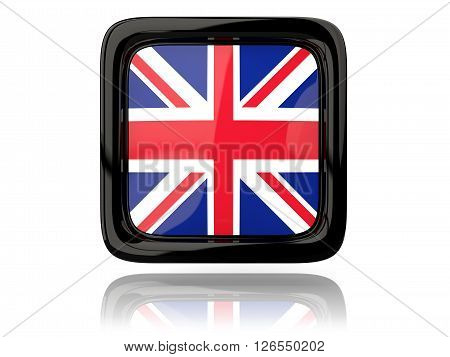 Square Icon With Flag Of United Kingdom