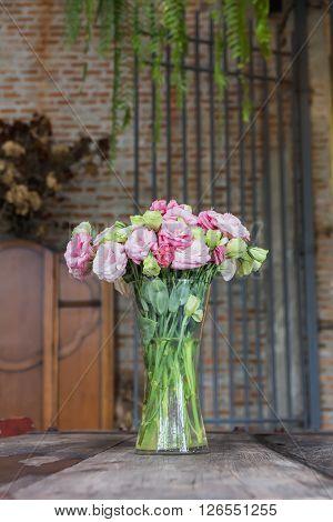 Beautiful Pink Flowers In Vase