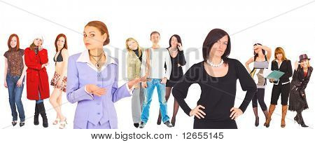 "team work -  of ""Business women"" multiple series in studio's portfolio"