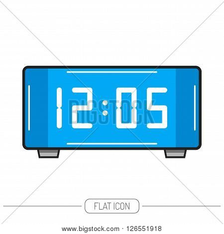 Electronic watch. Digital. Flat color icon isolated. Vector object