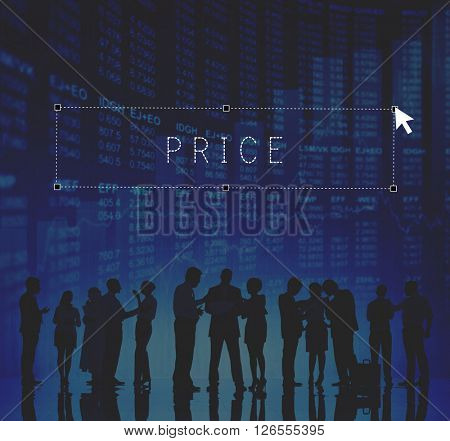 Price Amount Retail Shopping Value Worth Cost Concept