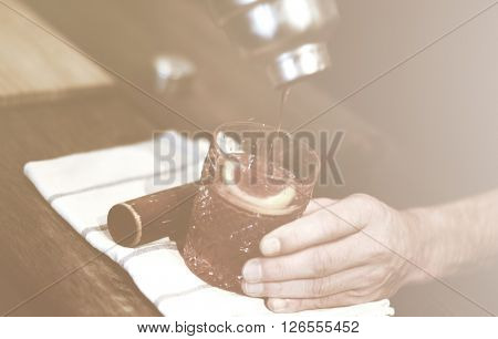 Bartender Barista Service Working Cafe Concept