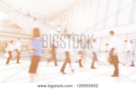 Rush Hour City Life Crowed People Concept