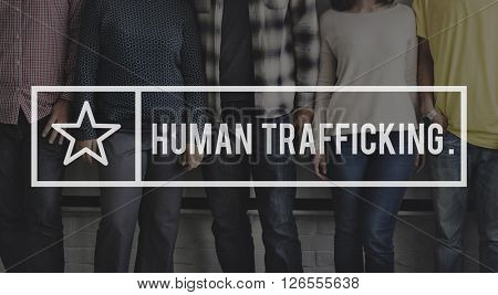 Human Trafficking Abduction Crime Illegal Concept