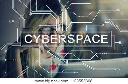 Cyberspace Internet Online Connection Globalization Concept