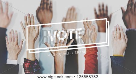 Vote Campaign Democracy Volunteer Concept