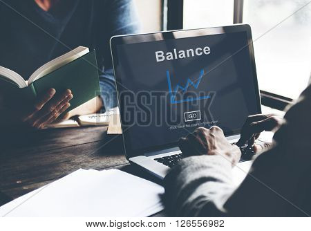 Banking Financial Account Balance Chart Concept