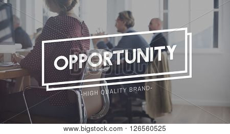 Opportunity Corporate Chance Development Concept