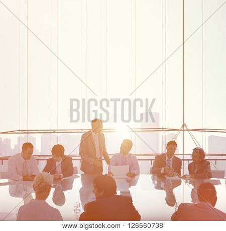 Business People in a Meeting and Working Together Concept