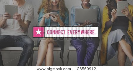 Connect Online Internet Social Media Concept