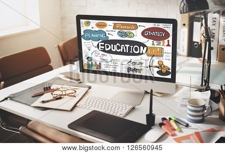 Education School Studies Learning Graphics Concept