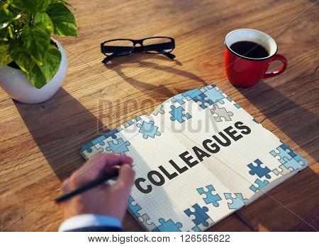 Colleagues Partner Team Officemates Business Concept