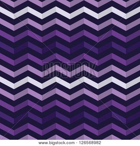 Zig-zag seamless pattern in dark colors. Vector geometric striped background.