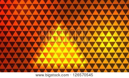 Orange abstract geometric rumpled triangular low poly style illustration graphic background.