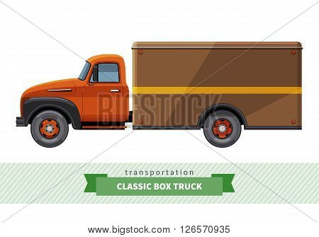 Classic Box Truck Side View