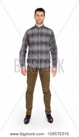 Full Body Caucasian Man Standing