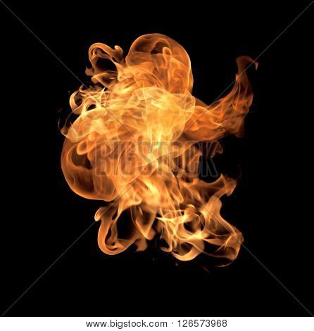 Fire Flames Collection Isolated