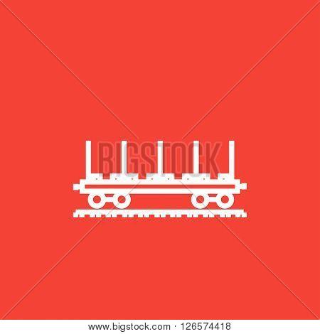 Cargo wagon line icon.