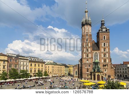Mariacki Church, Church Of Our Lady In Krakow
