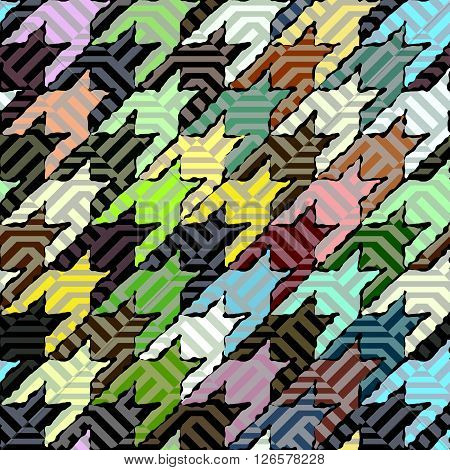 Seamless background pattern. Geometric green Hounds-tooth pattern.