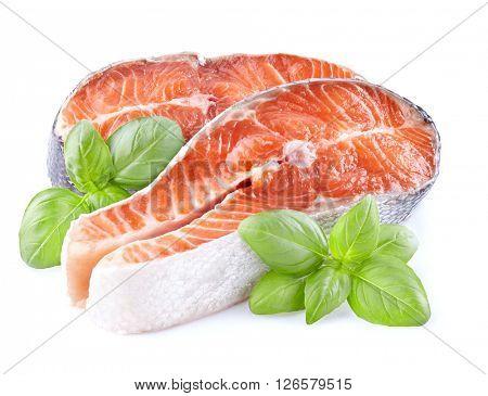 Salmon with basil