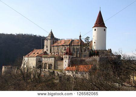 Large castle namer Krivoklat in the cetral Bohemia