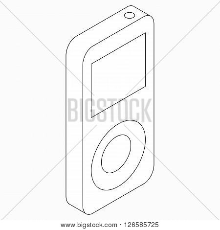 MP3 music player icon in isometric 3d style isolated on white background