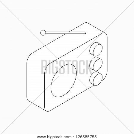 Radio icon in isometric 3d style isolated on white background