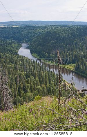 Ural Nature On The River, Perm Edge, Russia