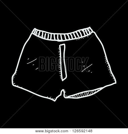 Simple Doodle Of A Pair Of Boxer Shorts