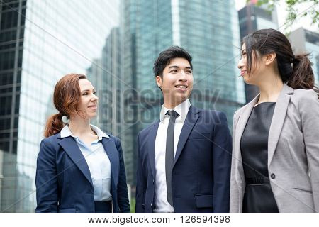 Business team talking to each other