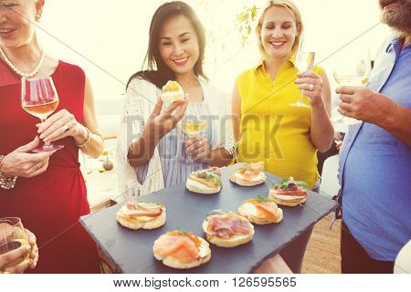 Celebrate Dining Friendship Hapiness Nutrition Concept