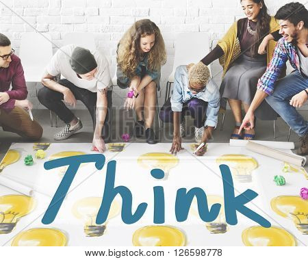 Think Thinking Thoughtful Inspiration Attractive Concept