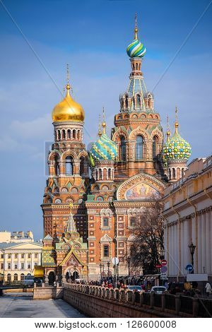 Church of savior on Spilled Blood in St. Petersburg, Russia.