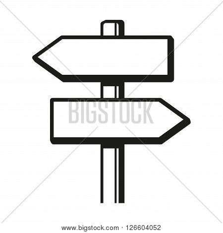 Signpost Icon on White Background. Vector Illustration