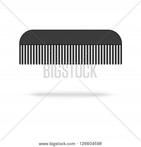 hairbrush icon isolated on a white background